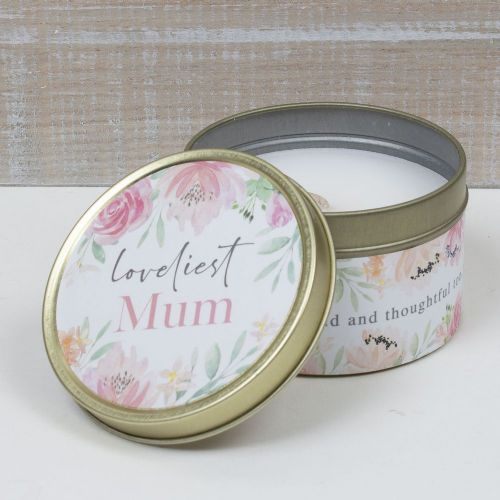 Loveliest Mum Scented Candle Tin Mothers Day and Birthday Gift